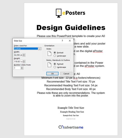 ePoster - PowerPoint Slide Size