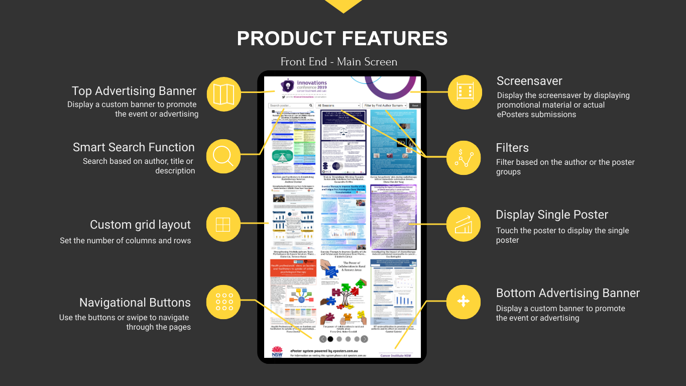 EPOSTERS SOFTWARE PRODUCT FEATURES